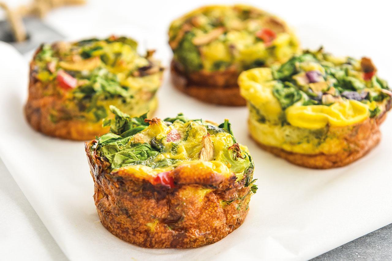 Egg muffins de legumes