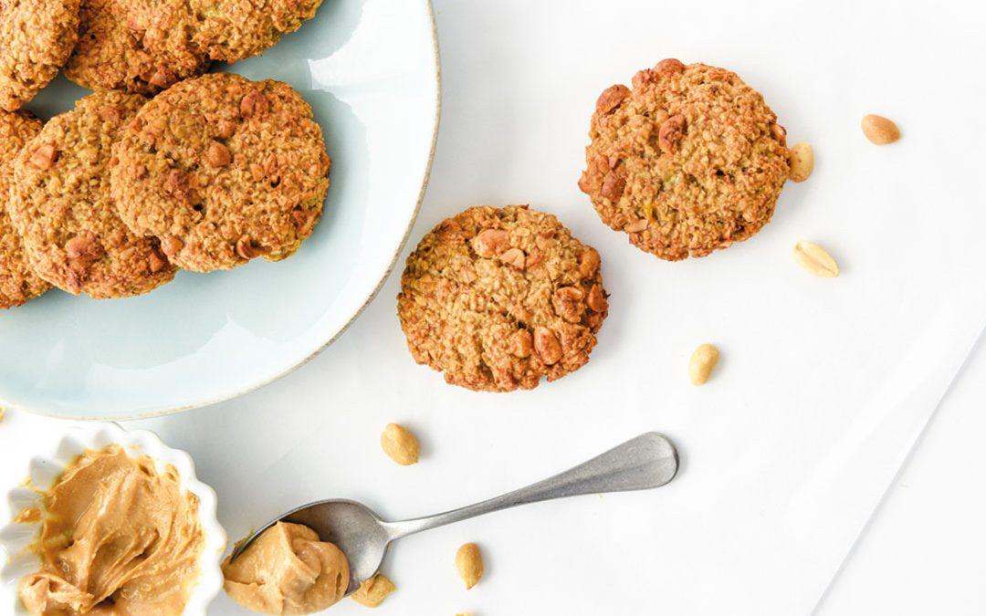 Cookies de aveia, banana e manteiga de amendoim