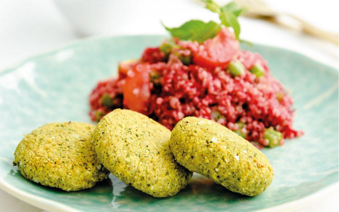 Faláfel com salada de quinoa