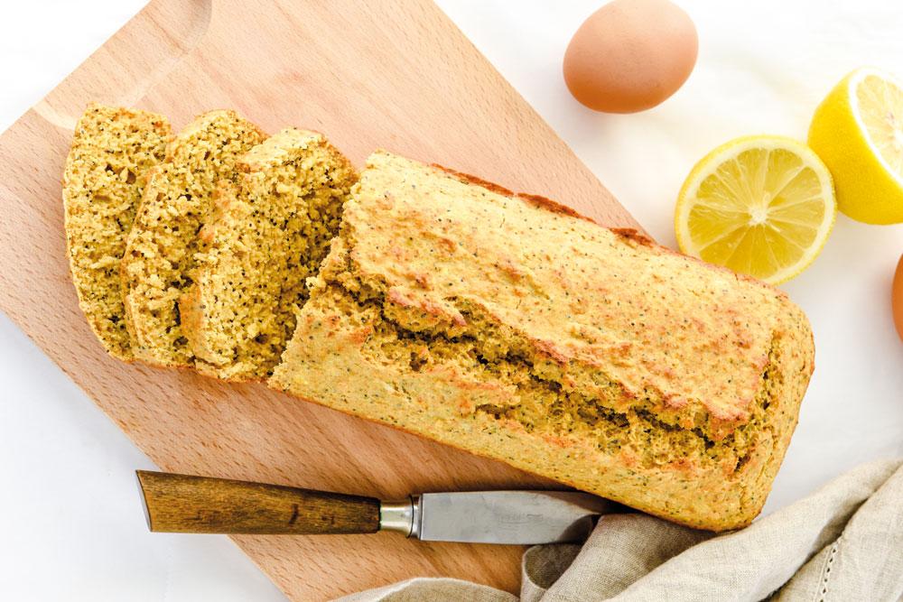 Pão de limão e sementes de papoila