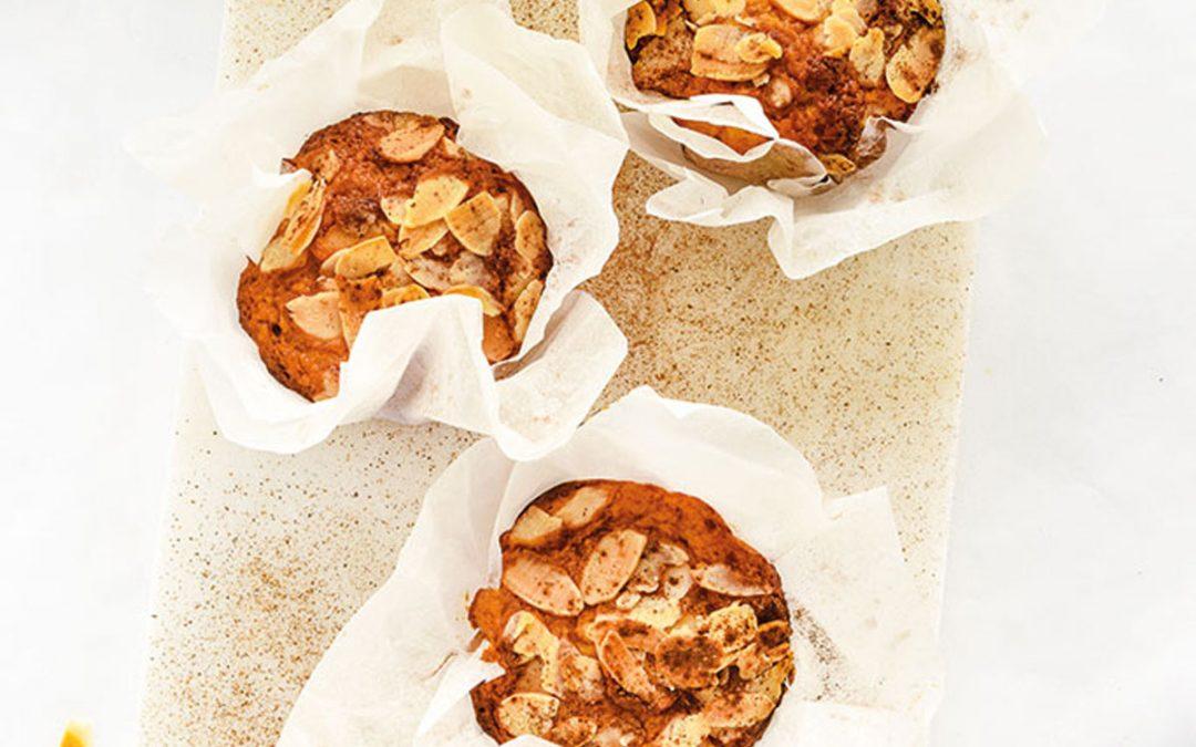 Muffins de maçã e laranja